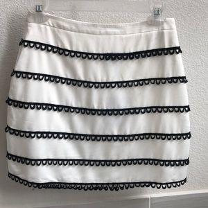NBD black and white mini skirt
